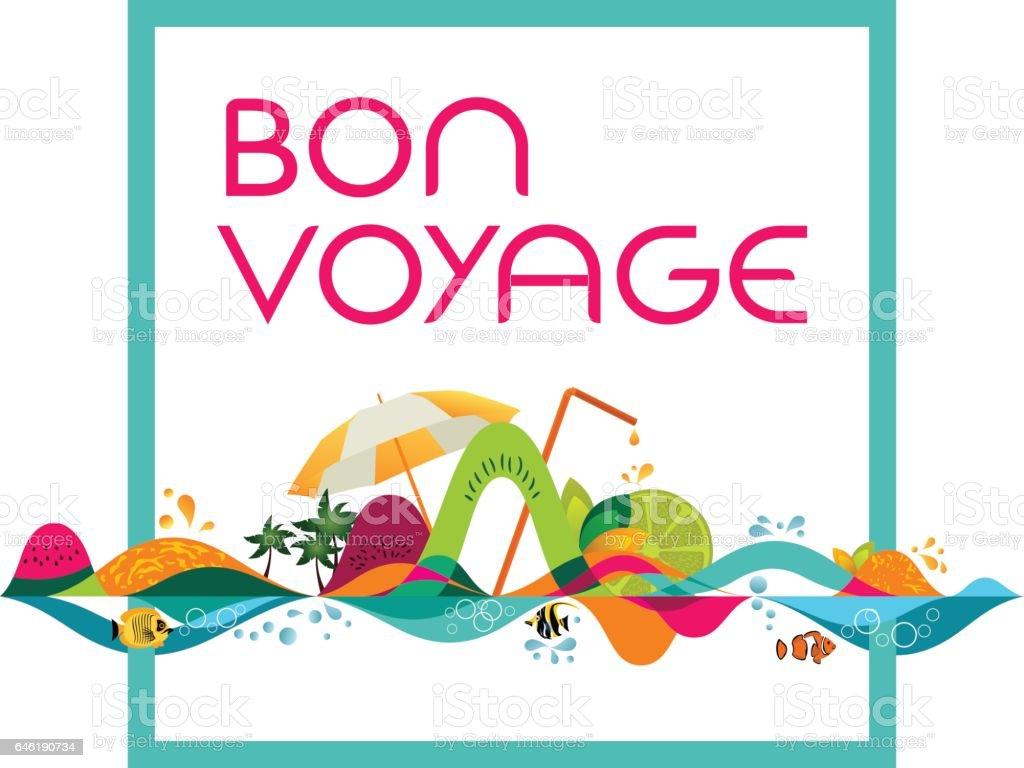 Bon Voyage - bannière, illustration du modèle vector - Illustration vectorielle