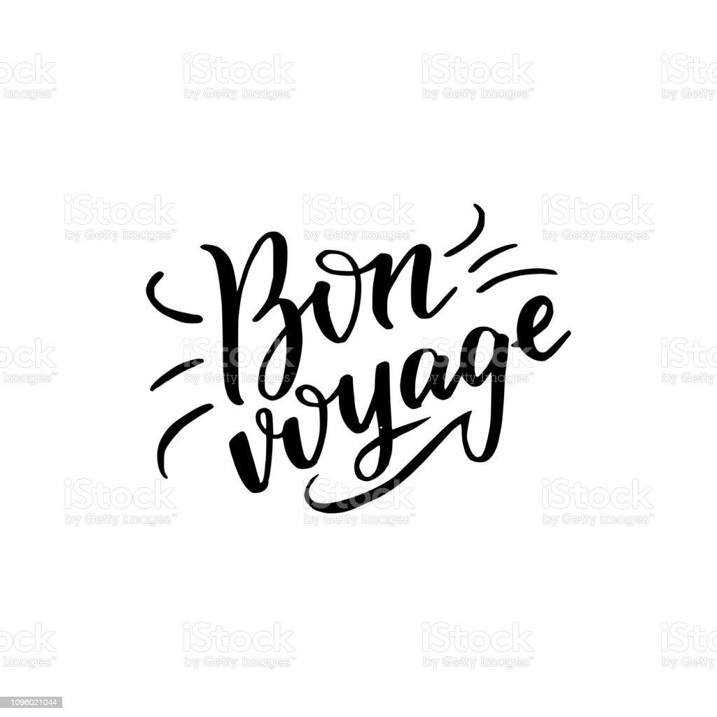 Inscription calligraphique de bon voyage - Illustration vectorielle