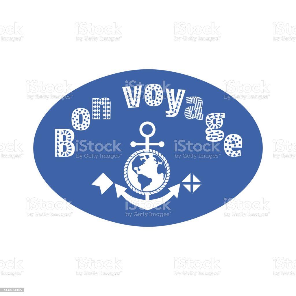 Lettres fantaisie de bon voyage - Illustration vectorielle
