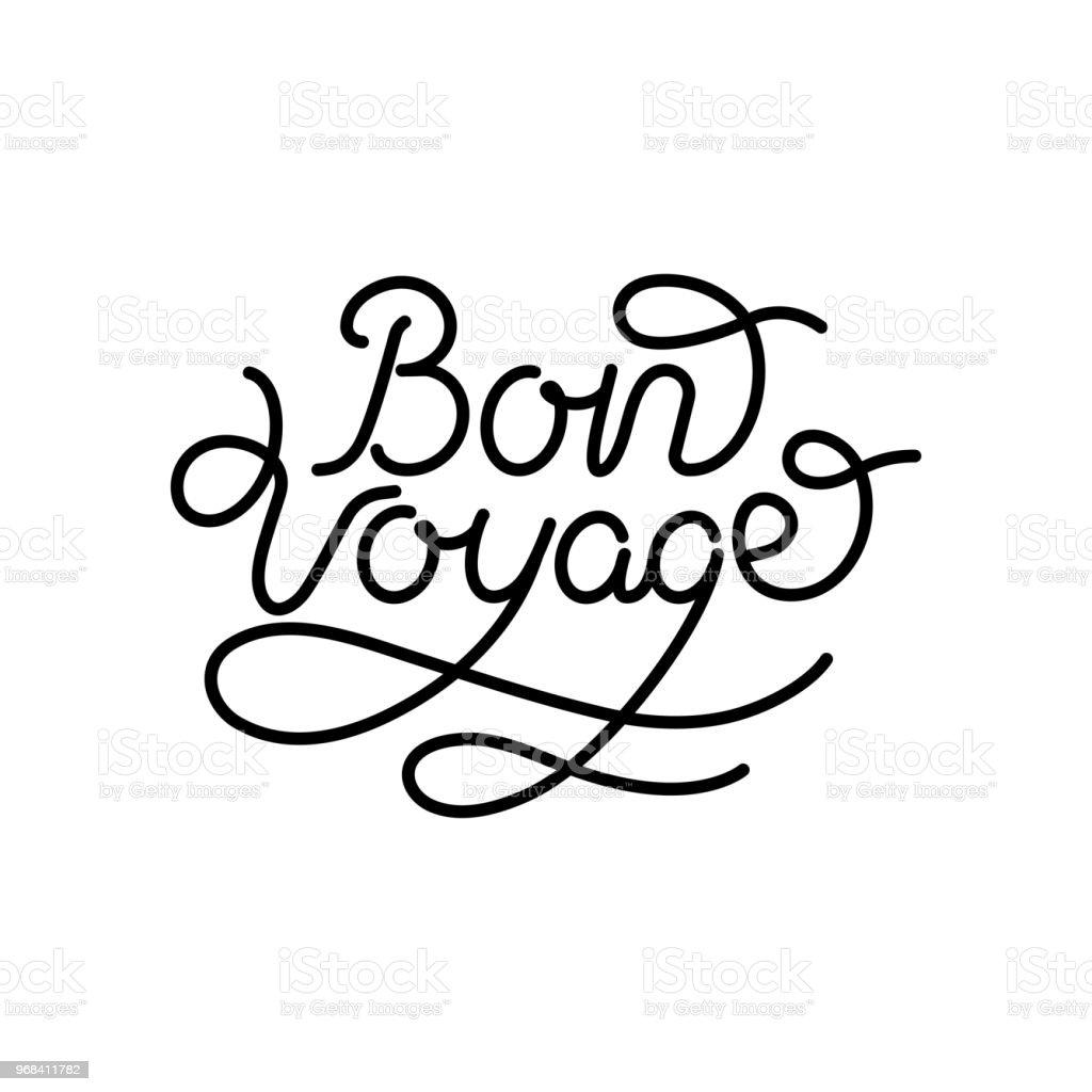 Bon voyage main lettrage vector - Illustration vectorielle