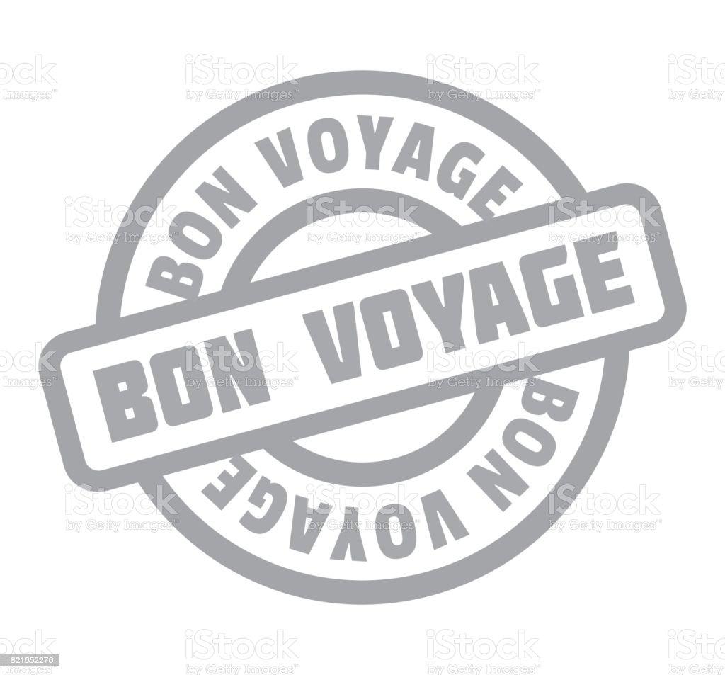 Timbre en caoutchouc bon Voyage - Illustration vectorielle