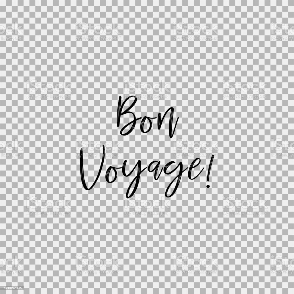 Bon Voyage! Fond transparent - Illustration vectorielle