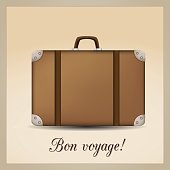 Bon voyage - travel suitcase.