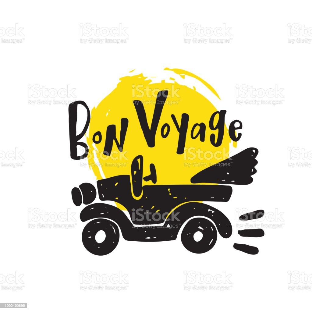 Bon voyage. - Illustration vectorielle