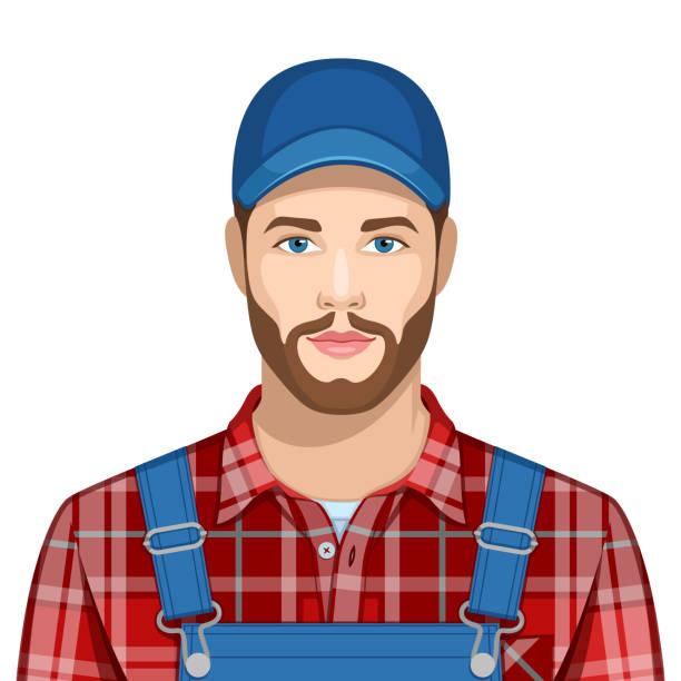 bonde - plaid shirt stock illustrations