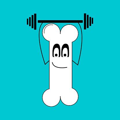Bone doing sports.