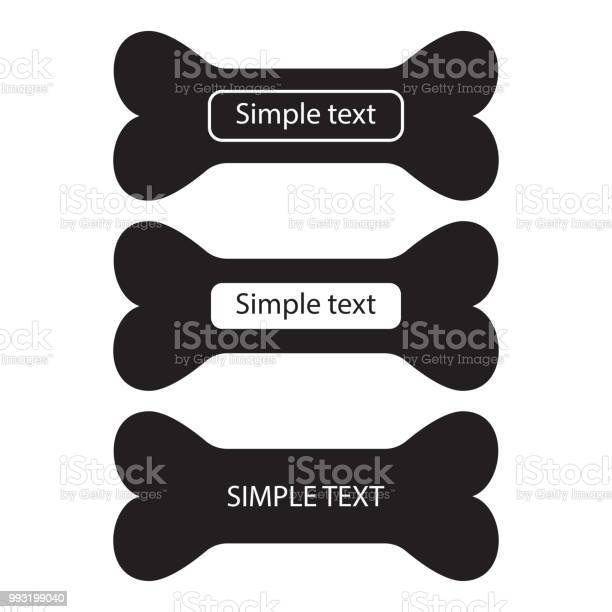 Bone icon set of black silhouette with place for your text template vector id993199040?b=1&k=6&m=993199040&s=612x612&h=da9ddhtgkbs2cntyt5u 3lsyfwar1e25fatrweqtrpk=