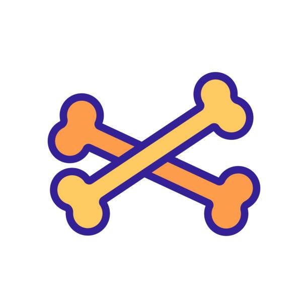 bone icon vector. Isolated contour symbol illustration bone icon vector. Thin line sign. Isolated contour symbol illustration lateral surface stock illustrations