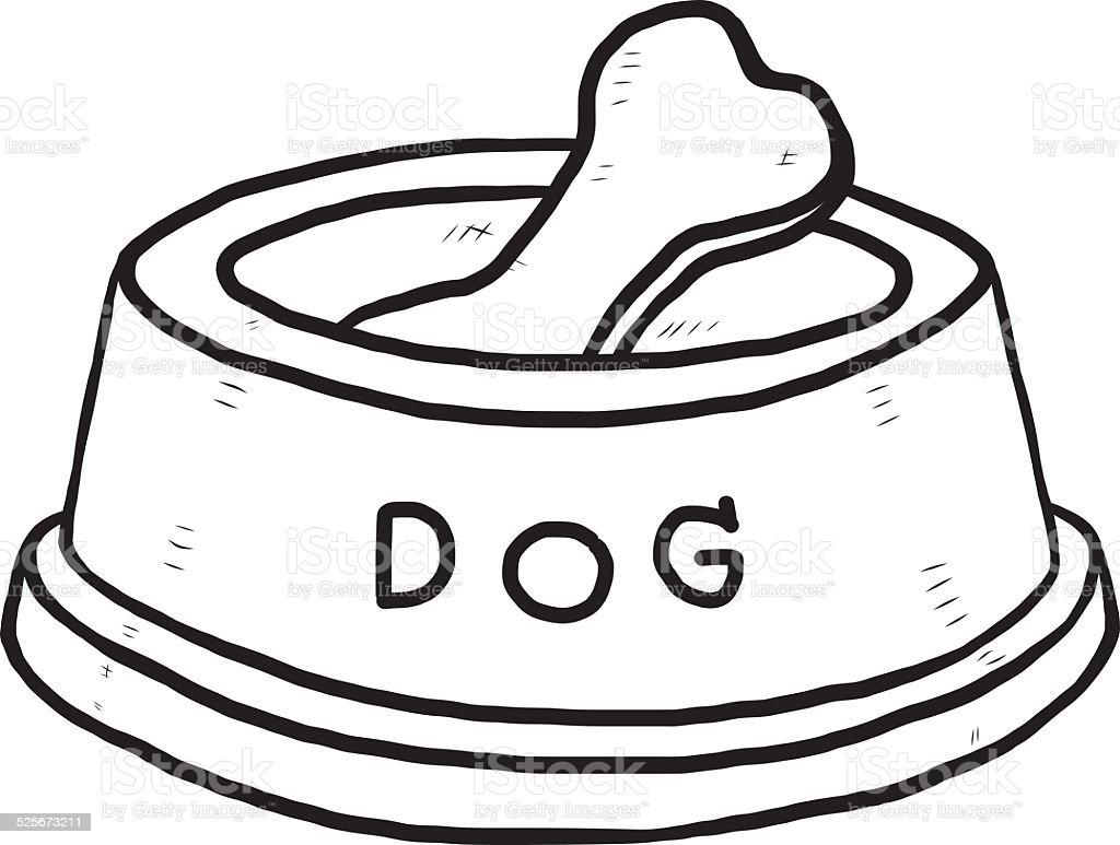 knochen hund schüssel stock vektor art und mehr bilder von
