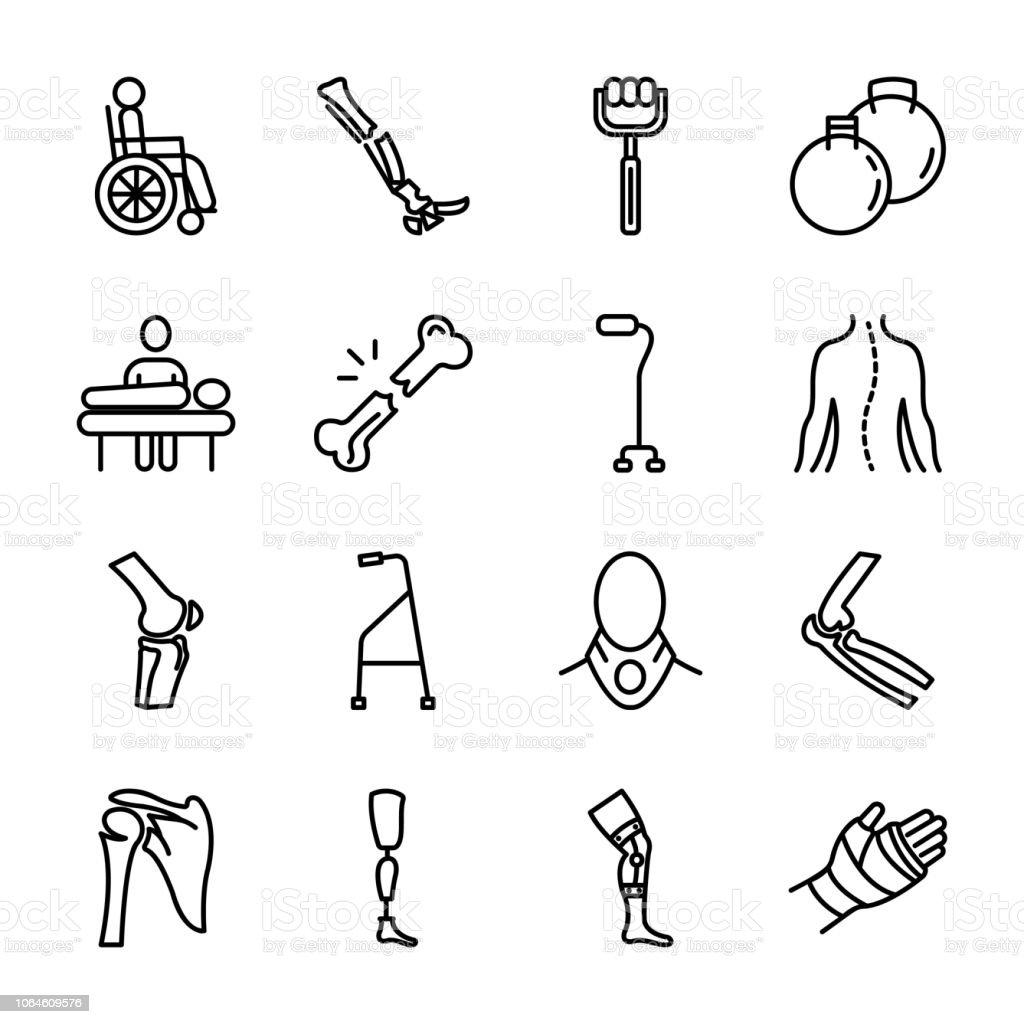 Bone Line Icons Pack vector art illustration