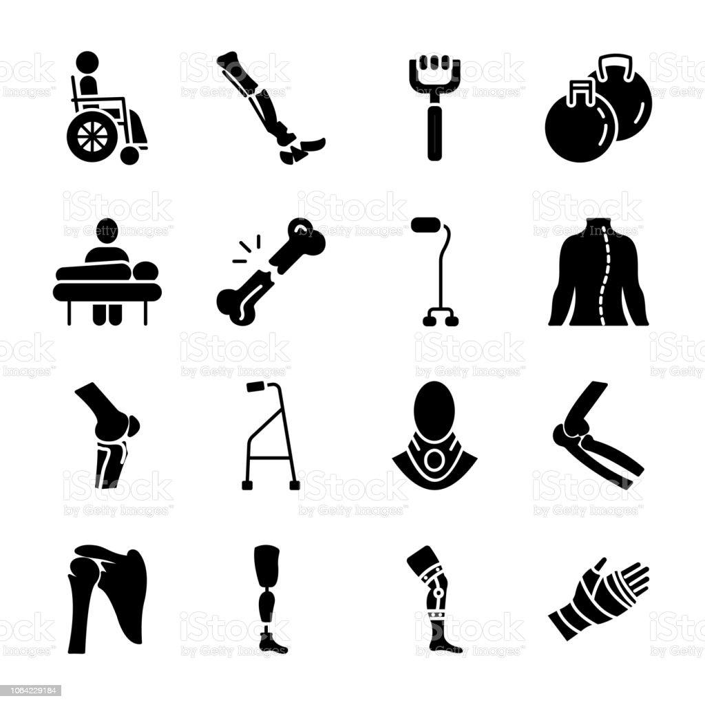 Bone solid icons vector art illustration