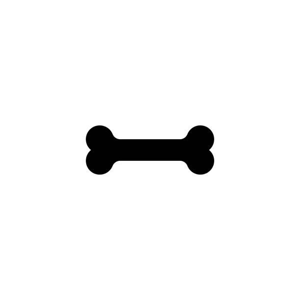 骨のベクトルのアイコン、白い背景で隔離のフラット スタイル-イラスト - 骨点のイラスト素材/クリップアート素材/マンガ素材/アイコン素材