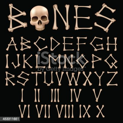 istock Bones Alphabet vector 453311651