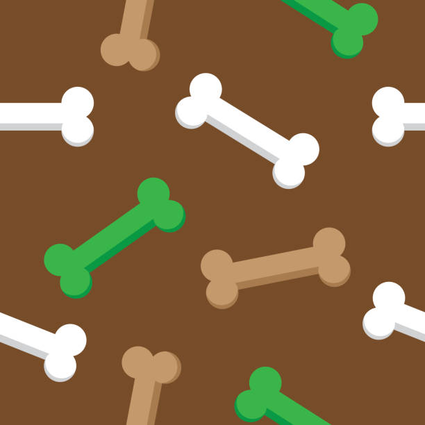 bones pattern dog - dog treats stock illustrations