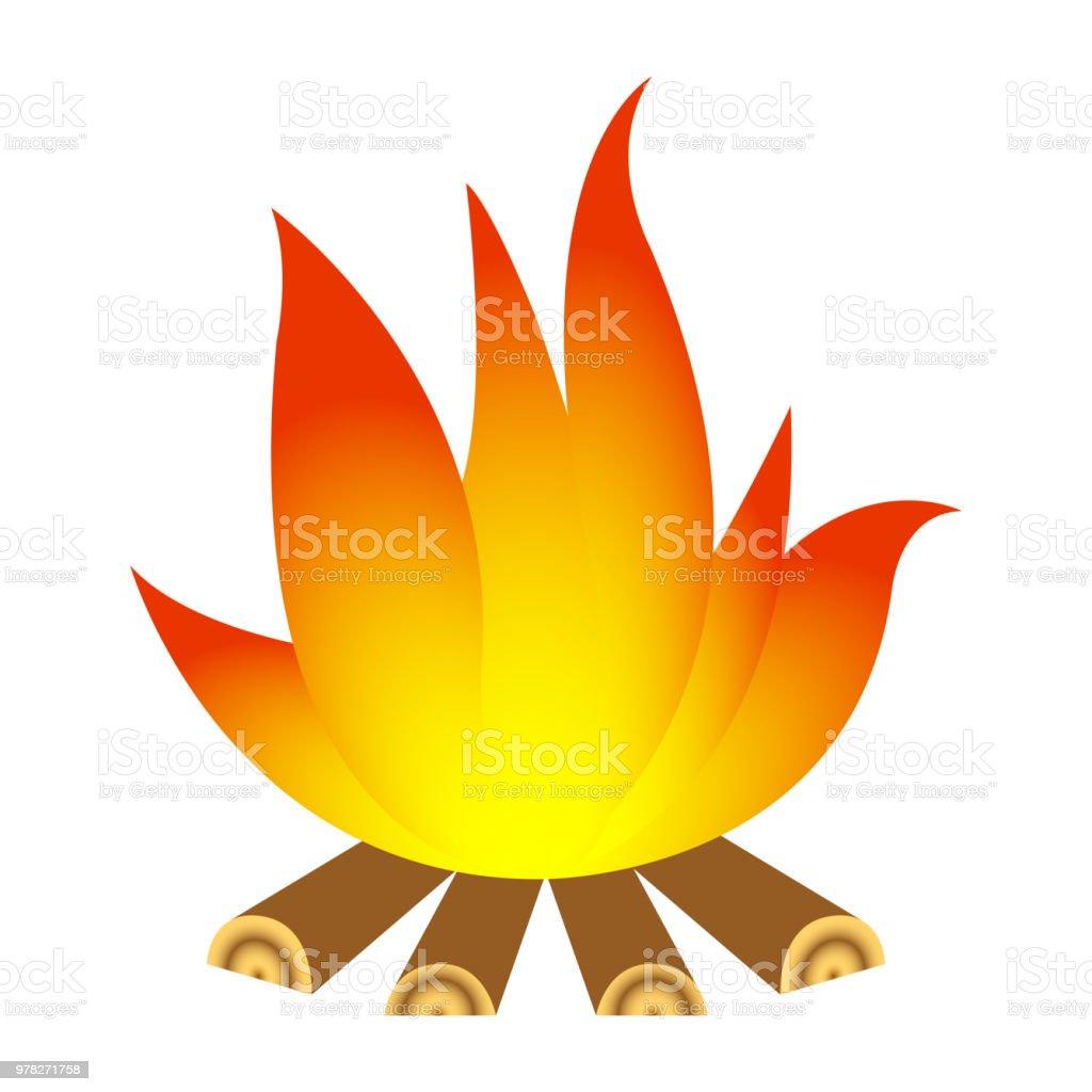 şenlik Ateşi Ve Yakacak Odun Vektör çizim Stok Vektör Sanatı Abd