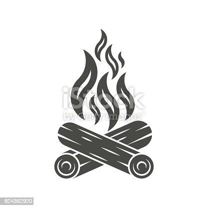 Bonfire icon. Campfire icon