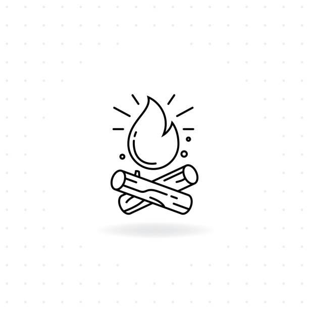 bildbanksillustrationer, clip art samt tecknat material och ikoner med bonfire-ikonen - skog brand