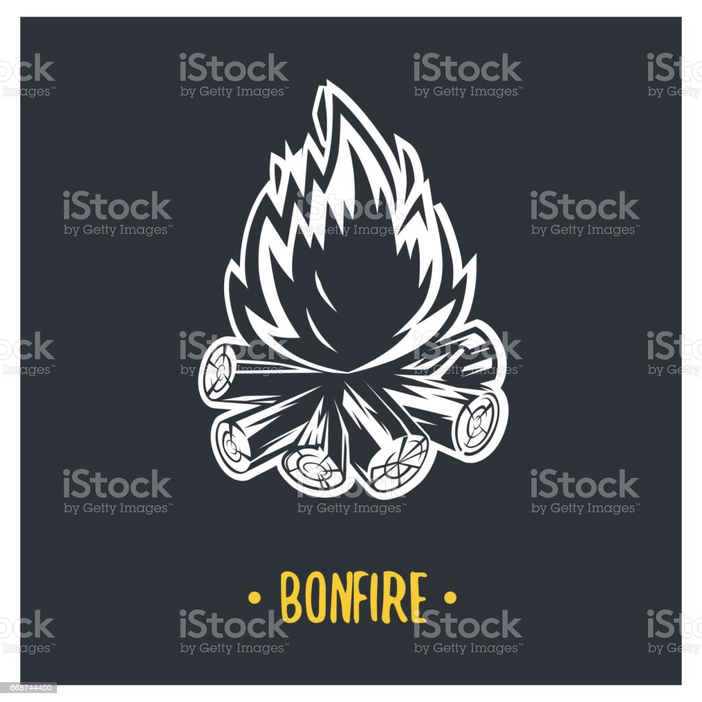 Bonfire illustration. vector art illustration