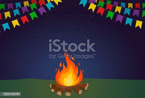 istock Bonfire in Junina Festival 1322425781