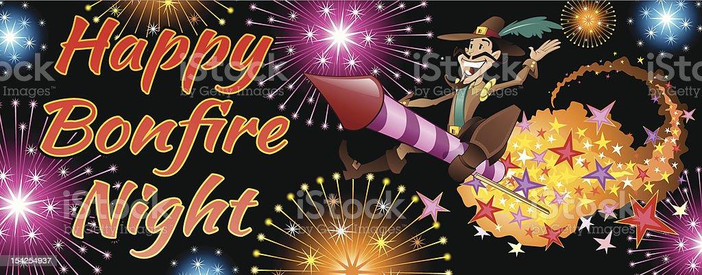 Bonfire Night Banner. royalty-free stock vector art