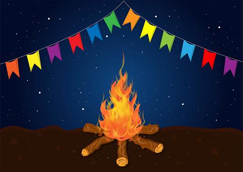 Bonfire of Festa Junina