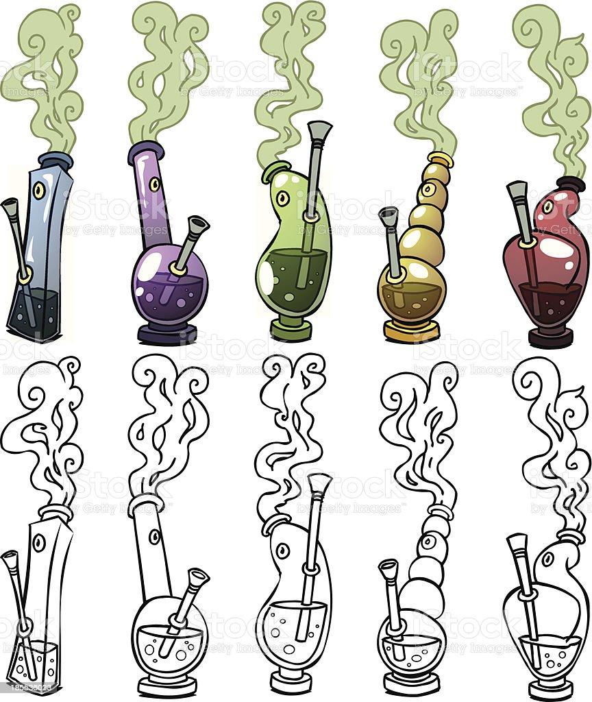 Bongs vector art illustration