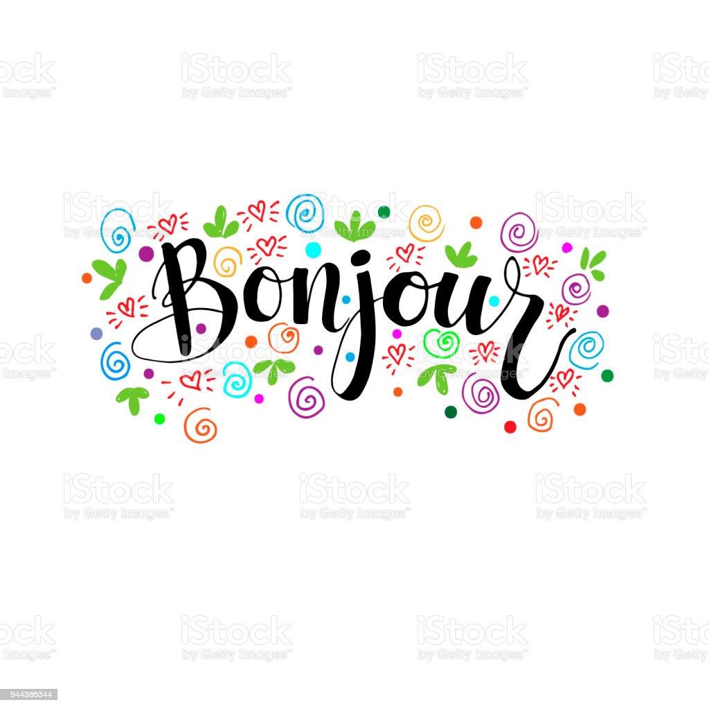 Bonjour 1 Stock Illustration Download Image Now