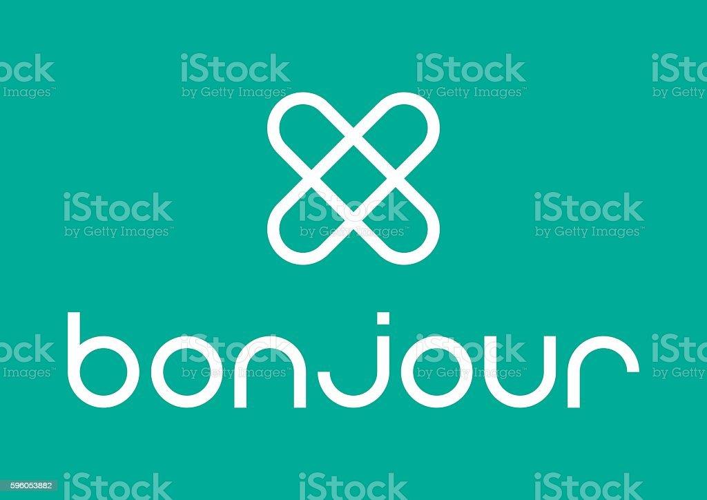 Bonjour logo royalty-free bonjour logo stock vector art & more images of creativity