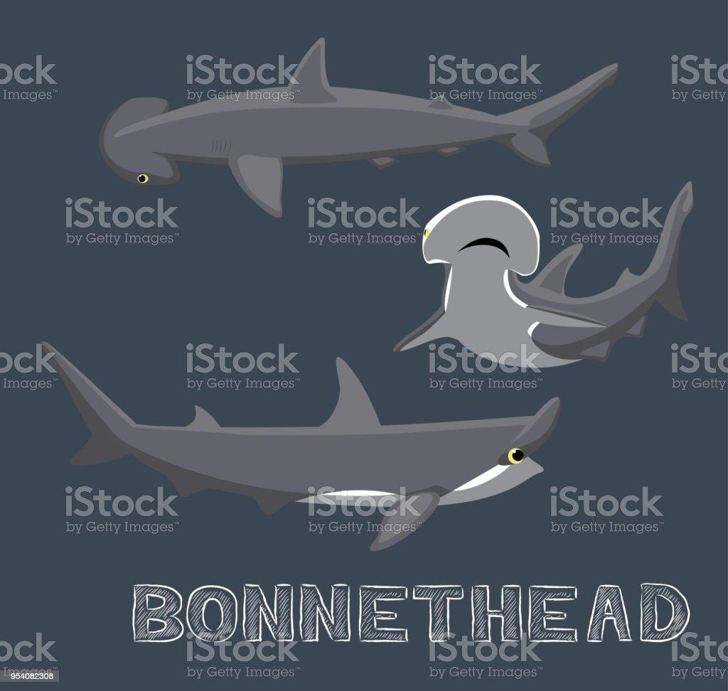 Ilustración de Ilustración De Vector De Dibujos Animados De Tiburón ...