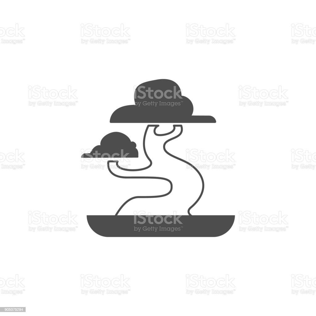 Bonsai Icon Elements Of Chinese Culture Icon Premium Quality Graphic