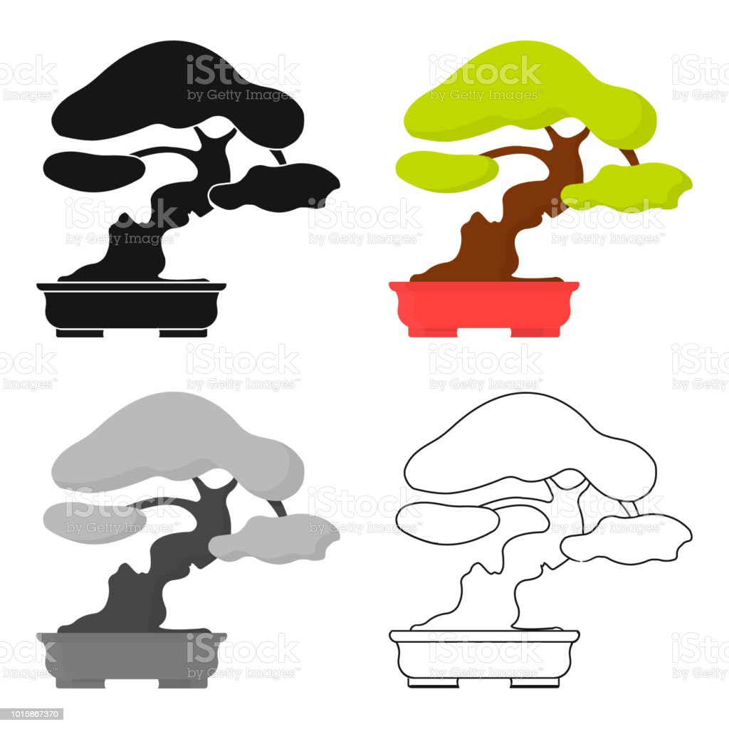 Bonsai Icon In Cartoon Style Isolated On White Background Japan Symbol Stock Vector Web Illustration Stock Illustration Download Image Now Istock Foliage potted plant trunk and leaves flat illustration. bonsai icon in cartoon style isolated on white background japan symbol stock vector web illustration stock illustration download image now istock