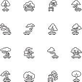 Bonsai Tree Icons - Light