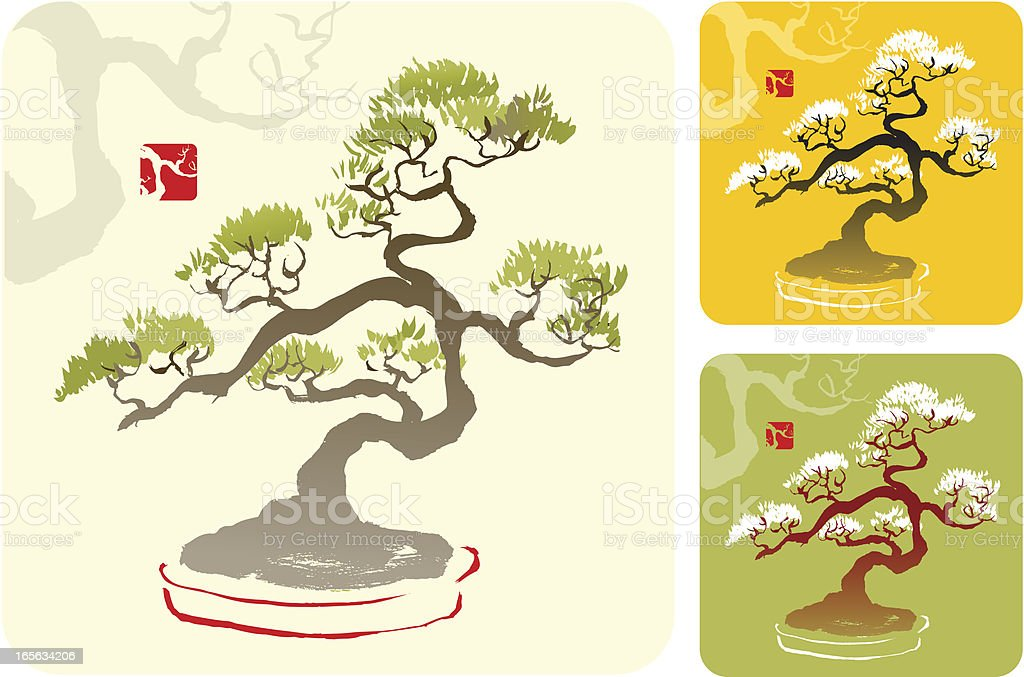 Bonsai - illustrazione arte vettoriale