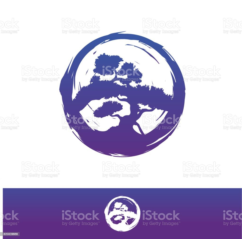 Bonsai vector icon,  design illustration. - illustrazione arte vettoriale
