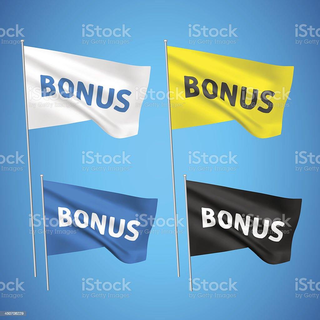 Bonus - 4 vector flags royalty-free stock vector art