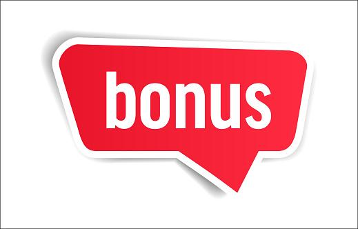 Bonus - Speech Bubble, Banner, Paper, Label Template. Vector Stock Illustration