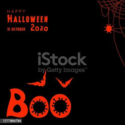 istock Boo. Happy Halloween 2020. Coronavirus times. 1277994794