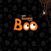 istock Boo. Happy Halloween design. 1181779392