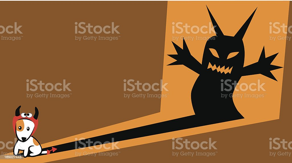 Boo! I'm big~ vector art illustration