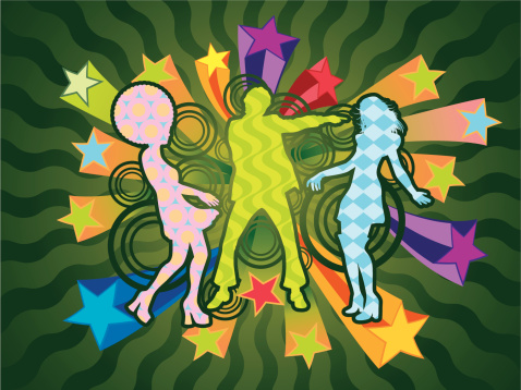 Boogie Dancers-vektorgrafik och fler bilder på 1970-1979