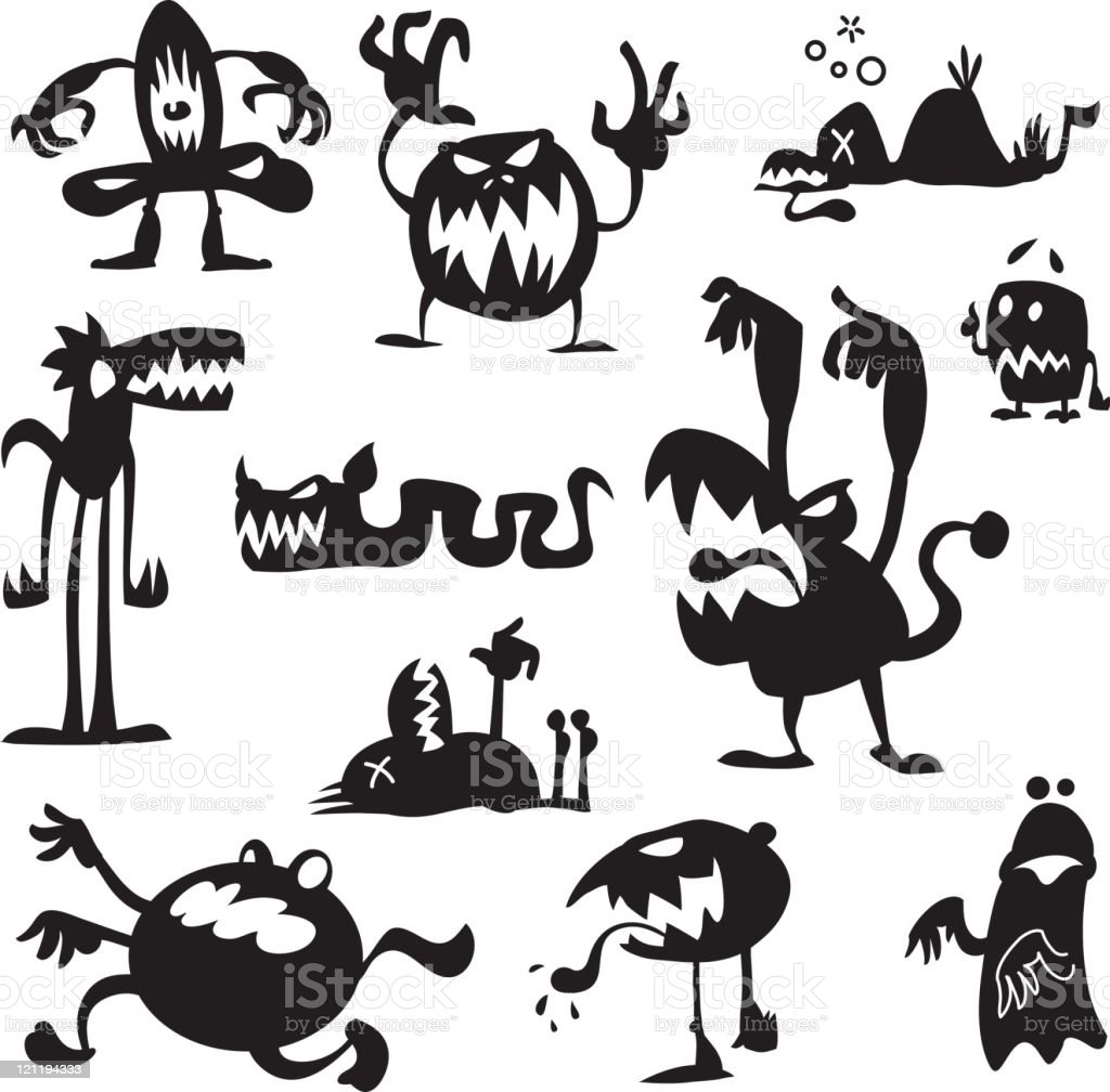 Boogie Monsters royalty-free boogie monsters stock vector art & more images of aggression