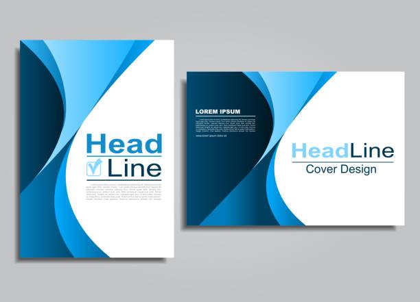 畫冊宣傳冊傳單封面設計範本。向量插圖。 - 設計圖 幅插畫檔、美工圖案、卡通及圖標