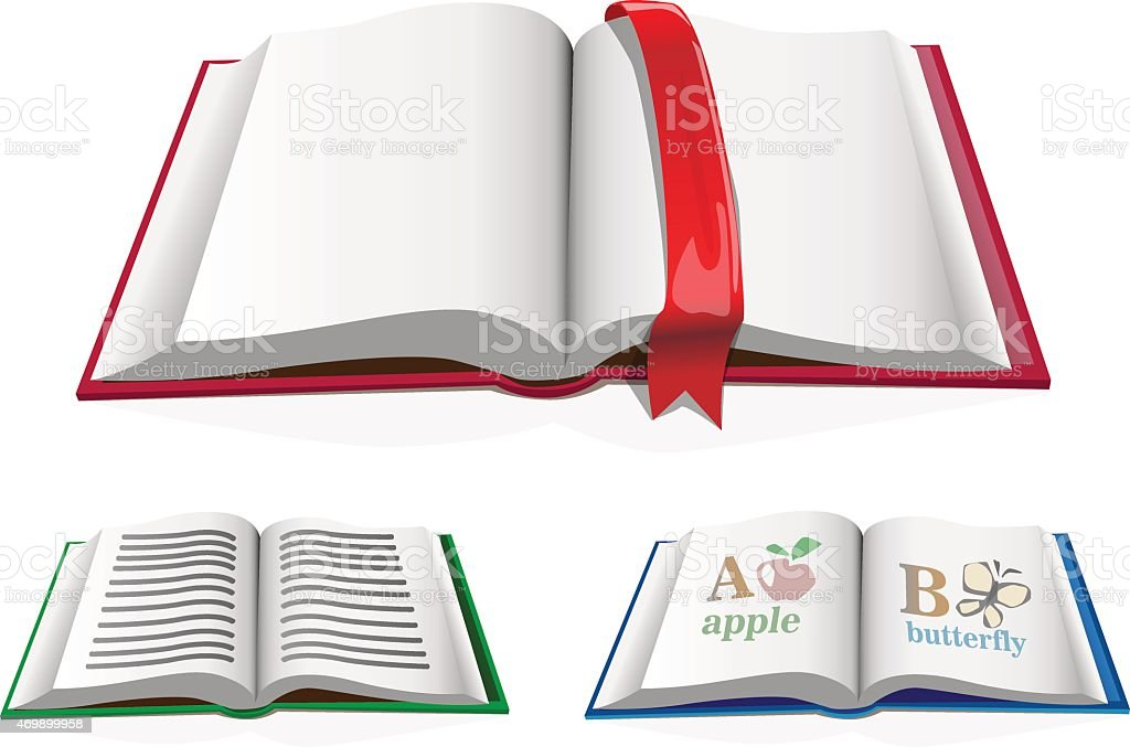 book and bookmark vector art illustration