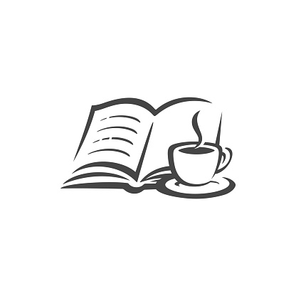 book and coffee icon