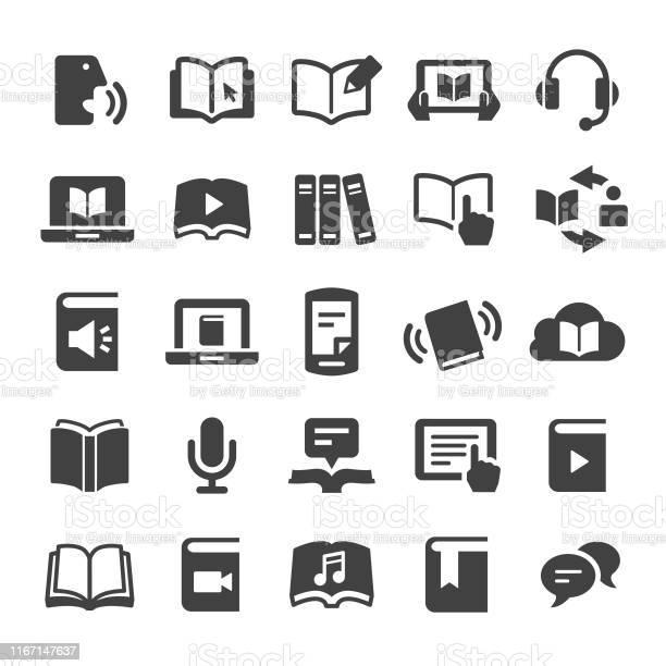 Vetores de Ícones Do Livro E Do Ebooksérie Esperta e mais imagens de Aprendendo