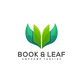 Book and Leaf Designs illustration vector template