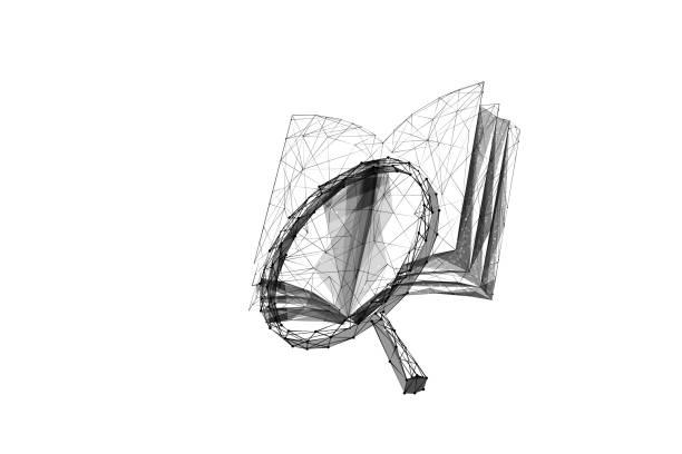 Buch und Vergrößerung LP BL – Vektorgrafik