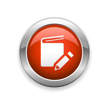Book and Pencil  Glossy Icon