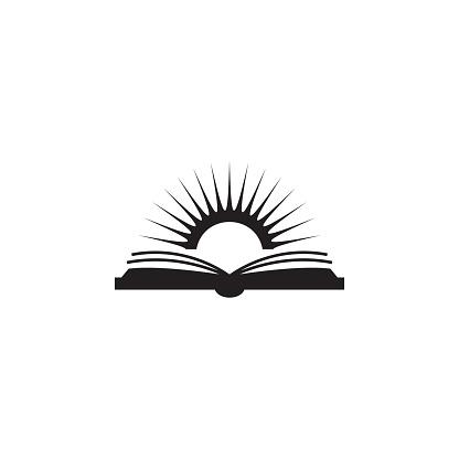Vetores de Ilustração Do Livro E O Sol Elemento De Ícone Biblioteca Móveis Conceito E Aplicativos Web Ícone De Livro E Sol Detalhada Pode Ser Usado Para Web E Mobile e mais imagens de Aberto