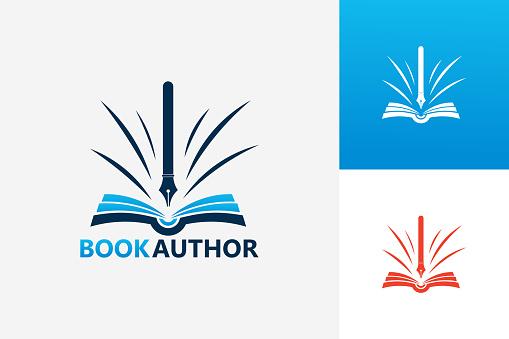 Book Author Template Design Vector, Emblem, Design Concept, Creative Symbol, Icon